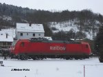 DB-Elok 185 196-3 - Eisenach - Winter 2010